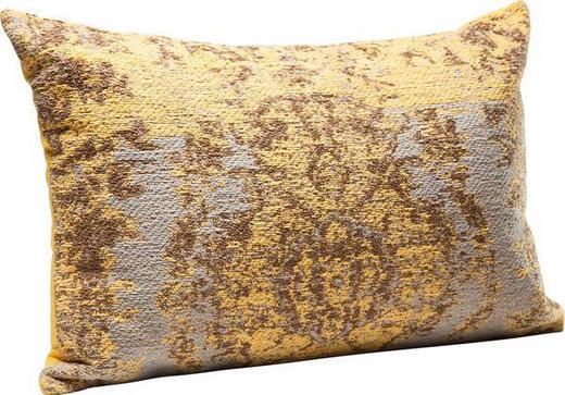 ZIERKISSEN - Gelb/Grau, Design, Textil (60/40/3cm) - Kare-Design