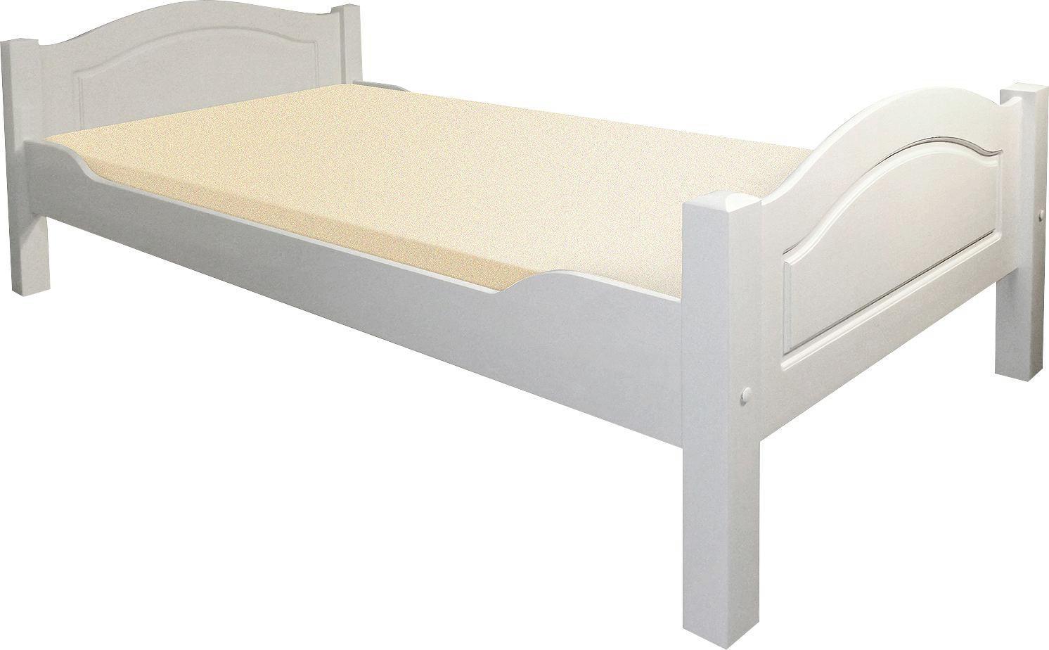 BETT Kiefer Massiv   Weiß, LIFESTYLE, Holz (214/102/70cm)
