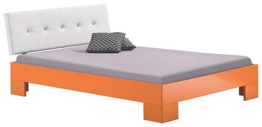 BETT 140/200 cm - Orange/Weiß, Design, Textil (140/200cm) - XORA