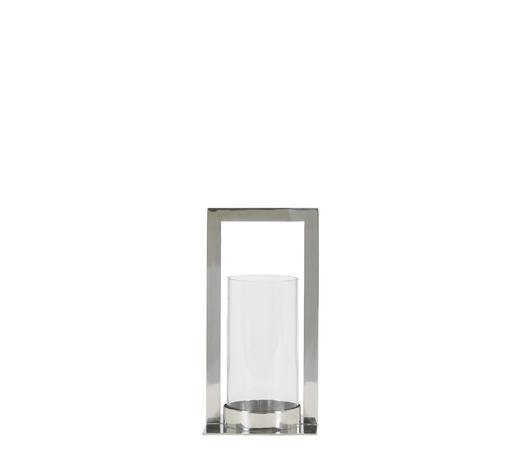 WINDLICHT  - Silberfarben, Trend, Glas (15/15/30cm)