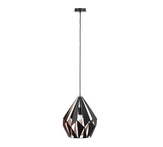 HÄNGELEUCHTE - Schwarz/Kupferfarben, Design, Metall (31/110cm) - Marama