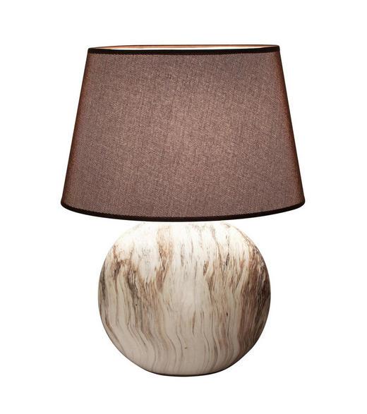 TISCHLEUCHTE - Beige/Braun, LIFESTYLE, Keramik/Textil (39cm)