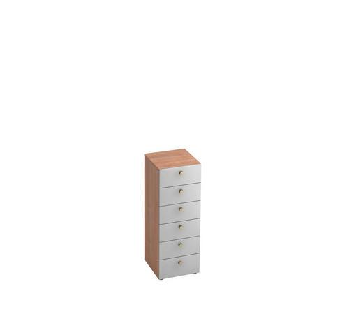 KOMMODE 40/110/42 cm - Silberfarben/Nussbaumfarben, KONVENTIONELL, Holzwerkstoff/Metall (40/110/42cm)