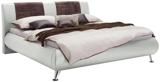 POLSTERBETT  in Braun, Weiß - Chromfarben/Braun, Design, Holz/Textil (140/200cm) - Carryhome