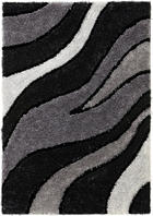 TEPIH VISOKOG FLORA - siva, Design, tekstil (160/230cm) - NOVEL