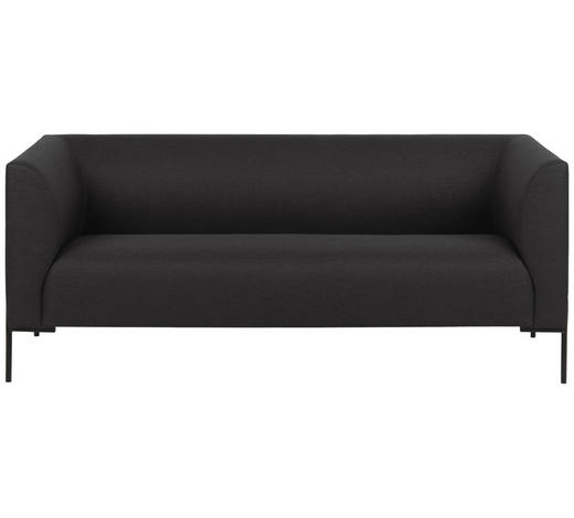 DVOJSEDÁK, kov, textil, tmavě šedá - černá/tmavě šedá, Trend, kov/textil (185/76/76cm) - Ambia Home