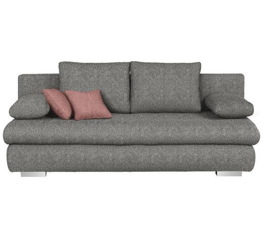 SCHLAFSOFA in Textil Braun, Grau - Chromfarben/Rostfarben, Design, Kunststoff/Textil (205/88/96cm) - Ti`me