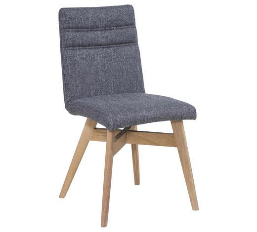 STUHL in Holz, Textil Grau, Eichefarben - Eichefarben/Grau, KONVENTIONELL, Holz/Textil (45/87/53cm) - Celina Home