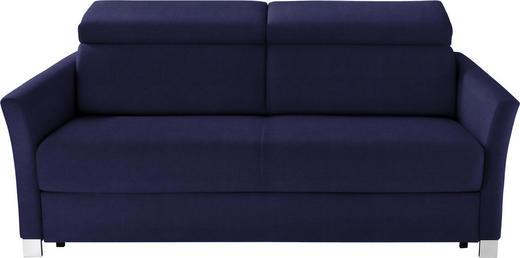 SCHLAFSOFA in Textil Dunkelblau - Silberfarben/Dunkelblau, KONVENTIONELL, Holz/Textil (185/100/100cm) - Bali