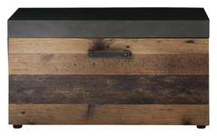 GARDEROBENBANK 80/45/37 cm - Grau/Pinienfarben, Trend, Holzwerkstoff/Metall (80/45/37cm) - Xora