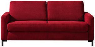 SCHLAFSOFA Bordeaux  - Bordeaux/Schwarz, KONVENTIONELL, Textil/Metall (184/82/102cm) - Dieter Knoll