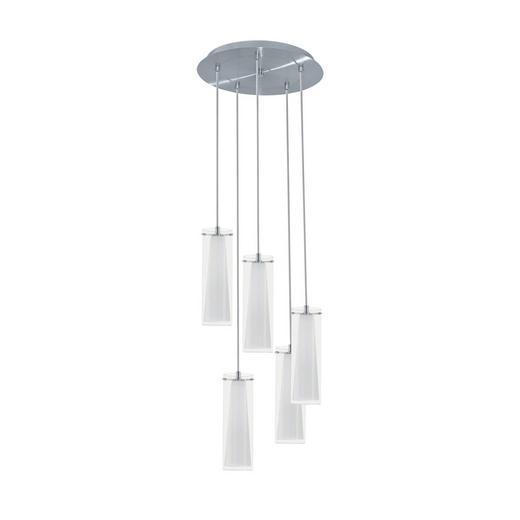 HÄNGELEUCHTE - Chromfarben, KONVENTIONELL, Glas/Metall (50/150cm)