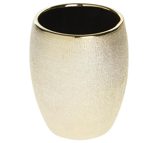 ZAHNPUTZBECHER Keramik - Goldfarben, Basics, Keramik (8/9,8cm) - Sadena