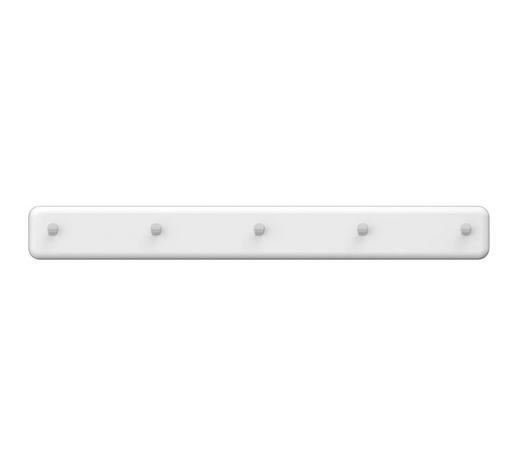 GARDEROBENLEISTE Weiß  - Weiß, Design (86/10/4cm) - Carryhome