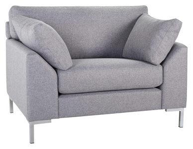 FÅTÖLJ - kromfärg/grå, Klassisk, trä/textil (112/84/85cm) - Hom`in