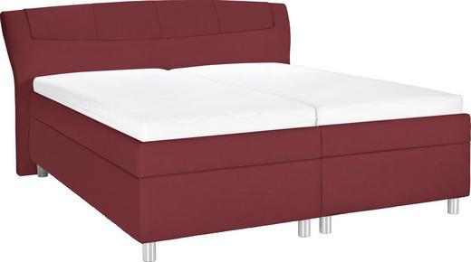 POLSTERBETT 180/200 cm  in Rot - Chromfarben/Rot, KONVENTIONELL, Holz/Textil (180/200cm) - Esposa