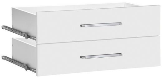 SCHUBLADE 37,7/34,6/36,8 cm Weiß - Alufarben/Weiß, Design, Kunststoff (37,7/34,6/36,8cm)