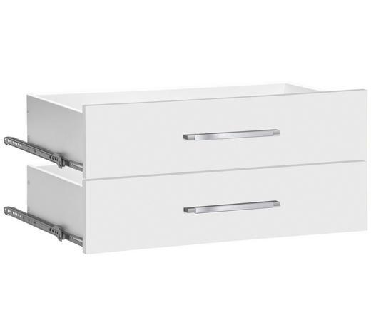 SCHUBLADE - Silberfarben/Weiß, KONVENTIONELL, Holzwerkstoff/Kunststoff (76/35/37cm)