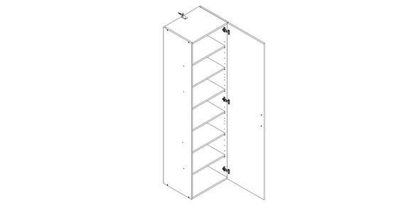 SCHRANK in Eichefarben  - Eichefarben/Alufarben, KONVENTIONELL, Holzwerkstoff/Kunststoff (40/185/40cm) - Xora