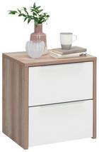 NACHTKÄSTCHENSET in Kieferfarben, Weiß - Alufarben/Weiß, Design, Holzwerkstoff/Metall (50/54/40cm) - Carryhome