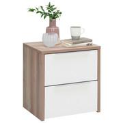 SADA NOČNÍCH STOLKŮ, bílá, barvy borovice - bílá/barvy borovice, Design, kov/kompozitní dřevo (50/54/40cm) - Carryhome