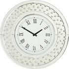 HODINY NÁSTĚNNÉ - barvy stříbra, Design, dřevěný materiál/sklo (50/50/4,5cm) - XORA