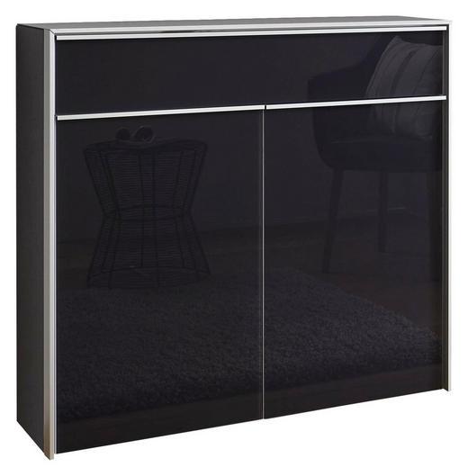 SCHUHSCHRANK Alufarben, Anthrazit - Anthrazit/Alufarben, Design, Glas/Holzwerkstoff (102/98/33,5cm) - Dieter Knoll