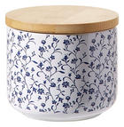 DÓZA NA POTRAVINY - bílá/modrá, Lifestyle, dřevo/keramika (10/8/cm) - Landscape