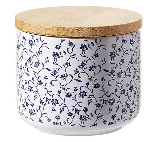 DÓZA NA POTRAVINY - bílá/modrá, Lifestyle, dřevo/keramika (10/8cm) - Landscape