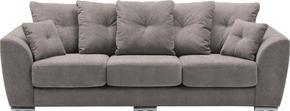 SOFFA - kromfärg/grå, Modern, metall/textil (267/92/98cm) - Welnova