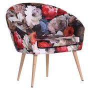 Sessel in Multicolor Textil - Multicolor/Naturfarben, Design, Holz/Textil (73/73/66cm) - Carryhome