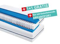 Taschenfederkernmatratze Comfort Dream 90x200cm H2 - Weiß, KONVENTIONELL, Textil/Metall (90/200cm) - Primatex