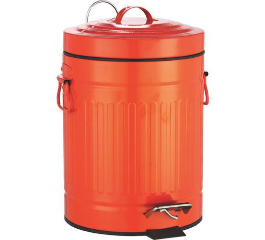 TRETEIMER Metall - Schwarz/Orange, Basics, Kunststoff/Metall (20,5/27cm) - Sadena