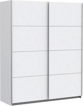 SKJUTDÖRRSGARDEROB - vit/silver, Design, metall/träbaserade material (170/210/61cm) - Low Price