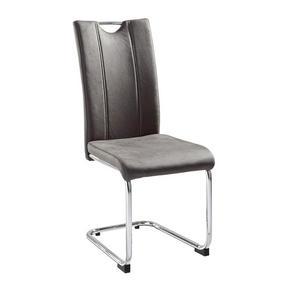 SVIKTSTOL - mörkgrå/beige, Design, metall/textil (43/99/58cm) - Ti`me