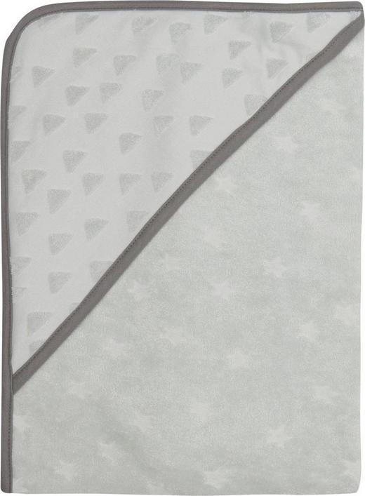 KAPUZENBADETUCH - Grau, Textil (85/75/1cm) - Bebe Jou
