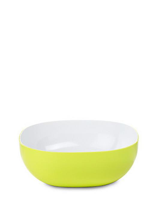 SALATSCHÜSSEL Kunststoff - Weiß/Grün, Kunststoff (2,5l) - MEPAL ROSTI