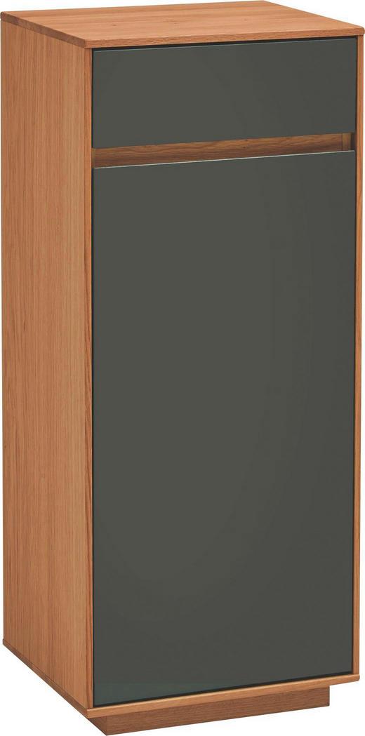 KOMMODE Eiche teilmassiv Dunkelbraun, Eichefarben - Eichefarben/Dunkelbraun, Basics, Holz/Holzwerkstoff (44/103/37cm)