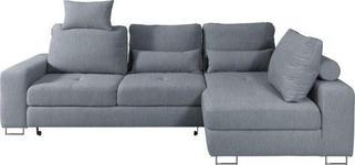 WOHNLANDSCHAFT Blau Webstoff - Blau, Design, Textil/Metall (260/188cm) - Hom`in