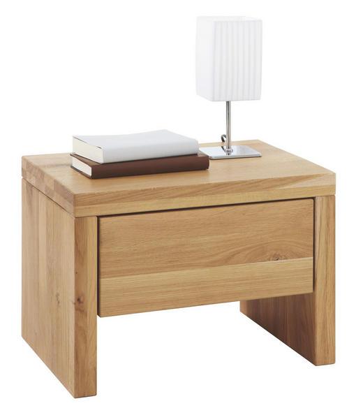 NACHTKÄSTCHEN Wildeiche massiv geölt Eichefarben - Eichefarben, Design, Holz (48/34/36cm) - LINEA NATURA