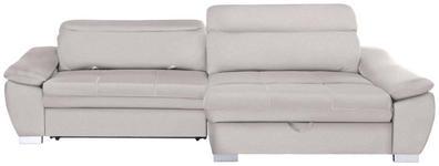 WOHNLANDSCHAFT in Textil Creme  - Silberfarben/Creme, MODERN, Kunststoff/Textil (270/175cm) - Carryhome