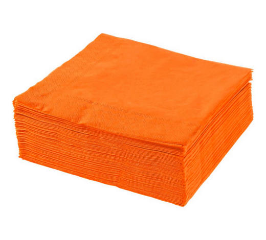 SERVIETTE - Orange, Basics, Papier (40/40cm) - Xxxlpack