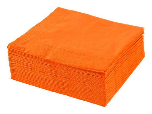 UBROUSEK - oranžová, Basics, papír (40/40cm) - XXXLPACK