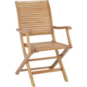 VRTNA SKLOPIVA STOLICA - smeđa, Lifestyle, drvo (54,5/93/62,5cm) - Ambia Garden