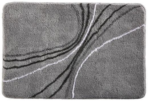 BADTEPPICH  Grau, Platinfarben  60/90 cm - Platinfarben/Grau, Design, Textil/Weitere Naturmaterialien (60/90cm) - Kleine Wolke