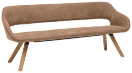 SITZBANK Mikrofaser Schlammfarben, Eichefarben  - Schlammfarben/Eichefarben, Design, Holz/Textil (200/83/59cm) - Valnatura