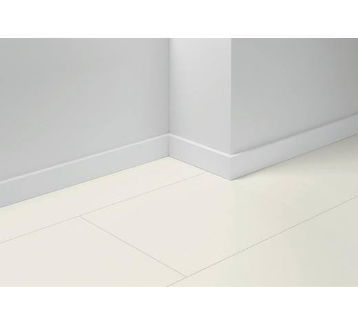 SOCKELLEISTE Weiß, Eichefarben, Hellgrau, Perlmutt - Eichefarben/Perlmutt, Basics, Holzwerkstoff (257/1,65/7cm) - Parador
