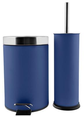 TOALETTBORSTSET - blå, Klassisk, metall/plast - Low Price
