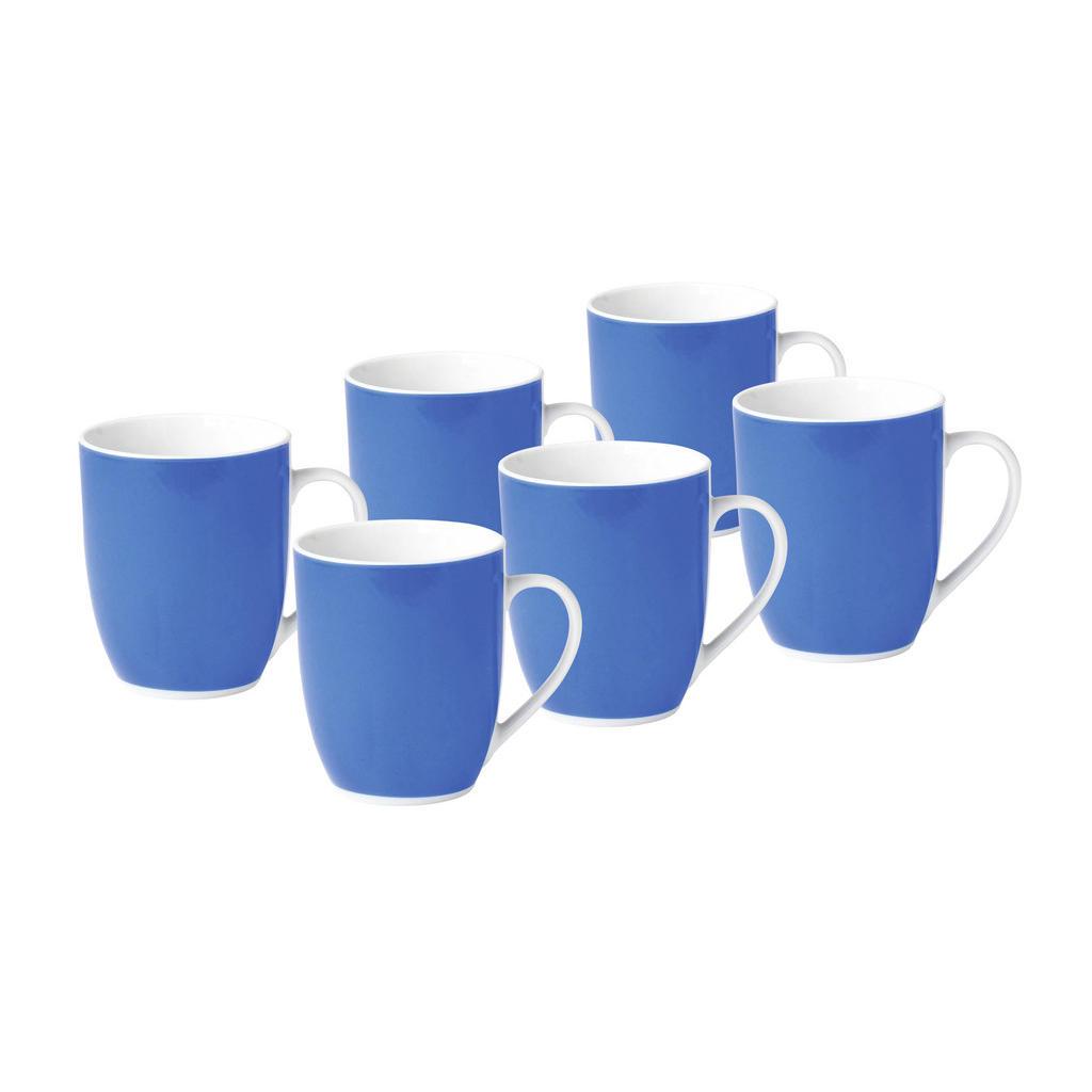 XXXLutz Kaffeebecherset 6-teilig keramik porzellan blau