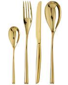 SAMBONET Besteckset  24-teilig  Edelstahl - Goldfarben, Design, Metall (43,5/29,5/5,5cm)